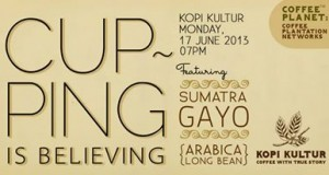 """Kopi Kultur """"Cupping is Believing"""" Featuring Sumatra Gayo Coffee"""