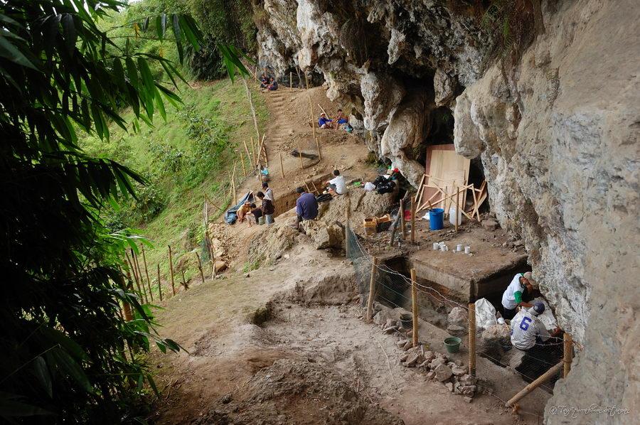 Lokasi Penelitian Arkeologi di Loyang Mendale. (foto : Taufiqurrahman)