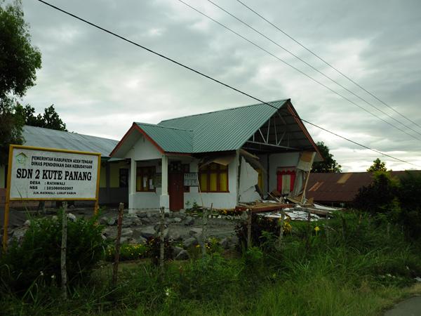 Bangunan sekolah dasar di kampung Ratawali Kec. Kute Panang Aceh Tengah (LintasGayo.co : Muna)