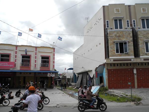 Bangunan ruko di jalan simpang perumnas Takengon - Aceh Tengah