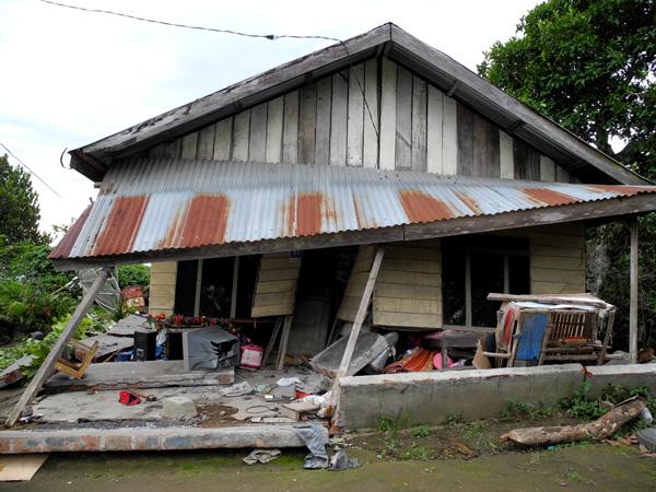 Rumah warga di Kampung Pantan Jerik Kecamatan Kute Panang - Aceh Tengah (LintasGayo.co : Muna)