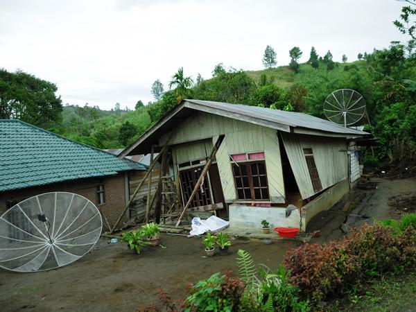 Rumah warga di kampung Paya Baning Kecamatan Ketol - Aceh Tengah (LintasGayo.co : Muna)