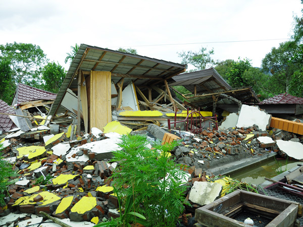 Salah satu rumah warga di kampung Paya Baning Kec. Ketol Aceh Tengah yang baru ditempati sekitar satu minggu (LintasGayo.co : Muna)