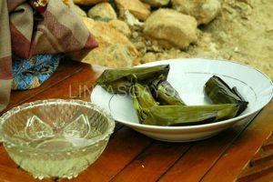 Lepat Gayo makanan khas yang berbahan utama tepung beras ketan dan dibungkus daun pisang.(LGco-Muna)