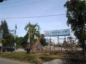 Lembaga Aman Zakat Nasional (Laznas) Bank Syari'ah Mandiri (BSM) Bangun Masjid Sementara di Blang Mancung (LG.co : Adie EM)