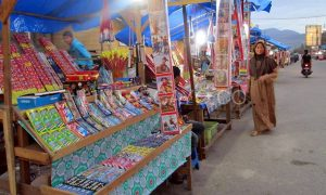 Ilustrasi Penjualan petasan di Blangkejeren. (Supri Ariu)