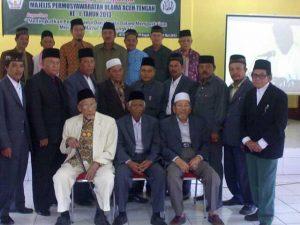 Pimpinan MPU Kab.Aceh Tengah dan para Ketua MPU Kecamatan se-Aceh Tengah. (LGco   Mahbub Fauzie)