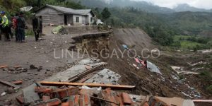 Desa Serempah pascagempa.(LGco-Susilawati)