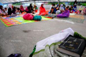 Pengungsi di Puskud Jamur Ujung pascagempa 6,2 SR.(Fauzi Ramadhan-Gayo Discover)