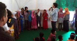 PIK Ransel Hibur Anak-anak Korban Gempa