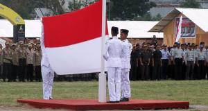 Di Lokasi Gempa Gayo, Upacara Bendera HUT RI Khidmat