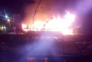 Ilustrasi Kebakaran di Jalan Lintang Takengon. (Adie)