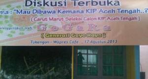Gegara Gelar Diskusi Terbuka Bahas Rekrutmen KIP Aceh Tengah