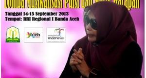 Bulan Depan, Budpar Aceh Gelar Lomba  Musikalisasi Puisi dan Musik Garapan
