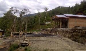 Lokasi kebakaran desa Uring Gayo Lues. (LGco-Supri Ariu)