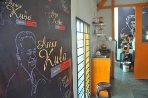 Salah satu ruang kerja Haji Aman Kuba yang telah direnovasi. (Khalis)