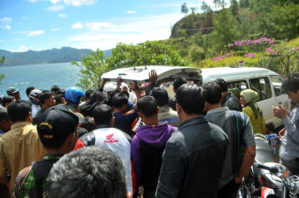 Jenazah korban dibawa ke RSU Datu Beru Takengon untuk di otopsi. (Kha A Zaghlul)