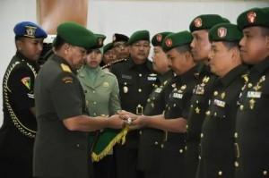 Serah terima jabatan di jajaran Kodam Isknadar Muda. (Ist)