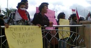 Pendemo Minta Usut OTK Penyebar Selebaran Mundurnya Bupati Bener Meriah