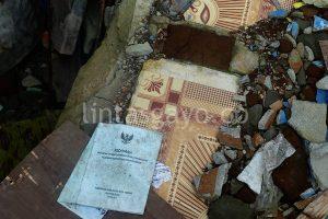 Foto lokasi rumah hancur karena gempa di Kecamatan Ketol (tarina)
