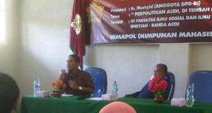 Mursyid Beri Kuliah Umum Soal Politik Aceh di Fisip Unsyiah