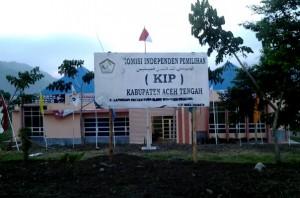Kantor KIP Aceh Tengah di Pegasing