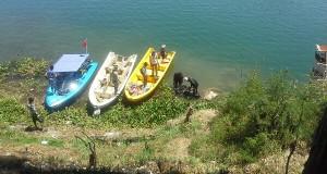 Kru SCTV dan GDC selami peninggalan penjajah di Danau Lut Tawar