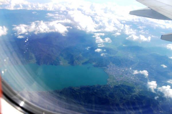 Gayo dari ketinggian 26.000 kaki di atas permuakaan laut (dpl). Foto diambil dari pesawat udara tgl 21 Maret Jam 16.00 WIB.(LGco _ Salman Yoga)