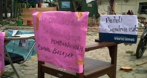 Tak ada perbaikan infrastruktur, mahasiswa Sendratasik Unsyiah blokir jalan kampus