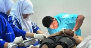 "Korban luka reruntuhan ""Retak"" Sahelta Bahria di rujuk ke Banda Aceh"