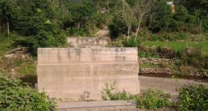 Pembangunan jembatan ke Buntul Linge terbengkalai