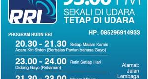 "RRI Takengon Gelar ""Indonesia Berdonor""."