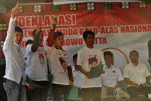 Pembacaan deklarasi dukungan dari 4 perwakilan masing-masing kabupaten antara lain Aceh Tengah, Bener Meriah, Gayo Lues, dan Aceh Tenggara
