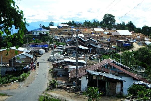 Kampung relokasi di Kute Panang. LGco_Kha A Zaghlul)