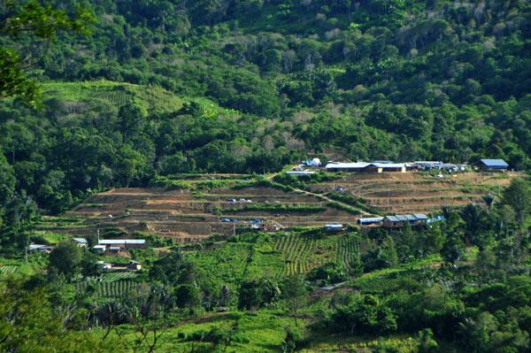 Kampung relokasi Mahabbah masih dalam tahapan perataan tanah. (LGco_Kha A Zaghlul)