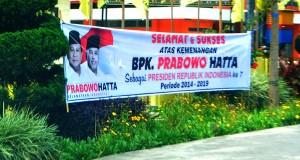 Spanduk Kemenangan Prabowo-Hatta