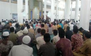 tabligh Akbar di Masjid Ruhama Takengon sekaligus penggalangan dana untuk Palestina. (LGco_Andi Rahman)