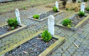 Makam di TMP Reje Bukit Takengon. (LGco_Khalisuddin)