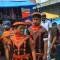 [FOTO] Abis bersaman, balik ke kampung ramai-ramai pakai seragam saman massal