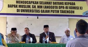 Kunjungi UGP, Anggota Komisi X DPR-RI janji Bantu Proses Penegerian