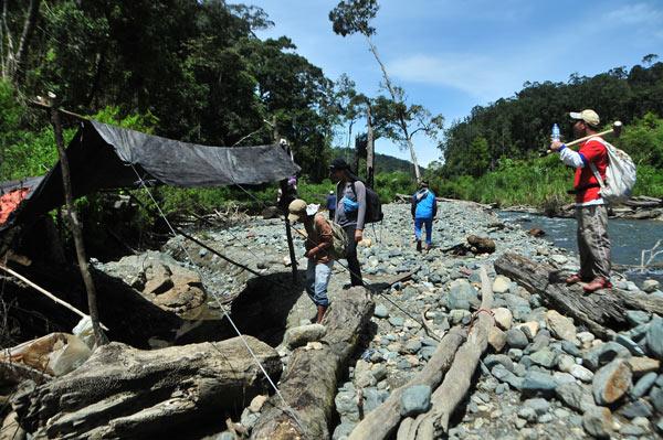 Lokasi salahsatu penggalian batu Giok Gayo. (LGco_Khalis)