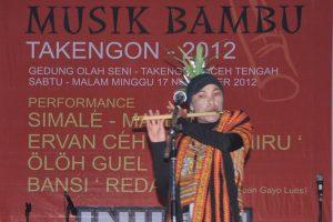 """Reda di pentas INILAH GAYO """"Festival Musik Bambu Gayo 2012"""" di Takengon"""