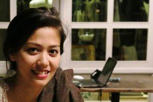 Nadia di acara pemutaran film Filosofi Kopi (Foto by: Fifick)