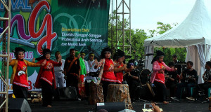 Tari Perempuan Berjangkat Utem Gayo Juara Tiga di Sabang Fair 2015