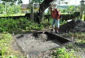 Kotak penelitian arkeologis di Buntul Linge tahun 2012. (LGco_Khalis)