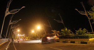 "(FOTO) Lampu ""Fly Over"" Pango Banda Aceh Tidak Menyala"