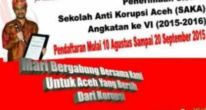 Sekolah Anti Korupsi Aceh Kembali Menerima Siswa Baru
