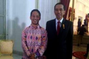 Safutra Rantona bersama Jokowi
