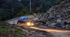 Material Longsor Jalan Takengon-Blangkejeren Belum Dibersihkan