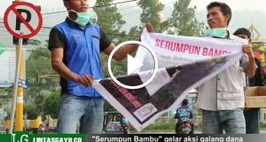 """[Video] Kelompok Pemuda """"Serumpun Bambu"""" Gelar Aksi Ngamen Peduli Kabut Asap"""